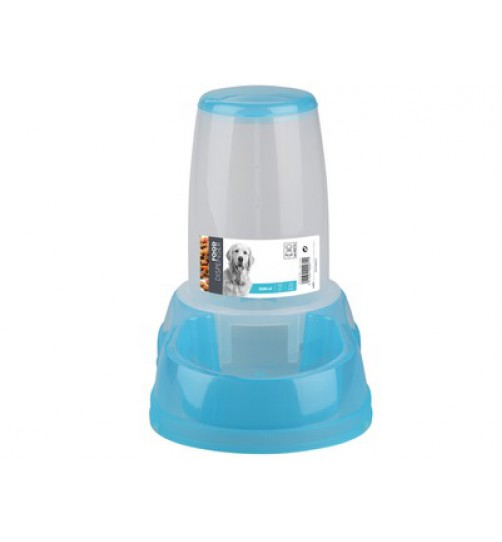 ظرف غذای مخزن دار سگ و گربه/ 2.5 لیتری