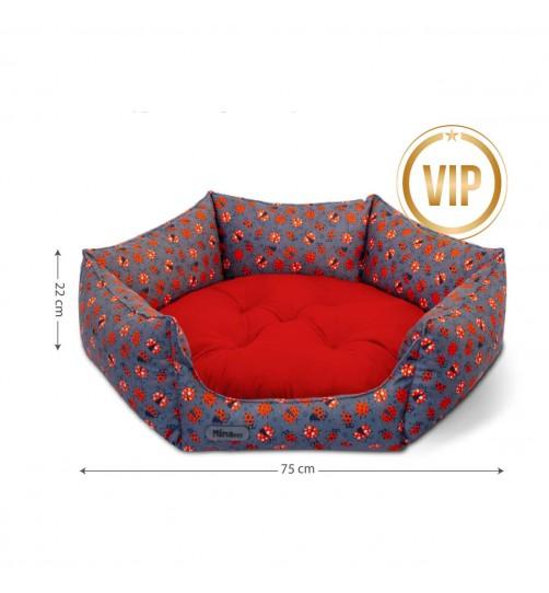جای خواب  گربه و سگ VIP شش ضلعی سایز 1