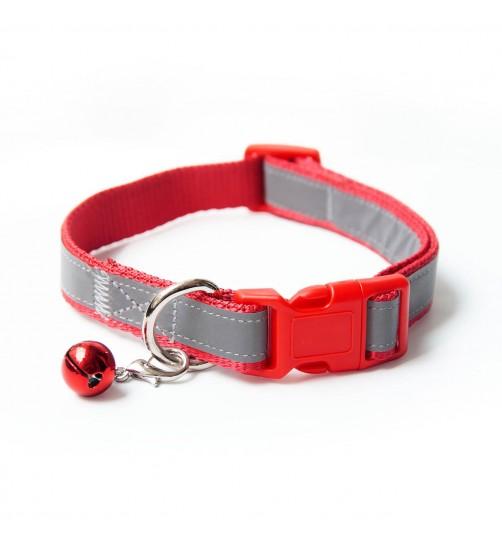 قلاده گردنی تسمهای  شبرنگ سگ - سایز 2 بدون لید