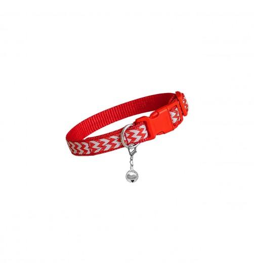 قلاده گردنی تسمهای سگ - طرح زیگزاگ سایز 1 بدون لید