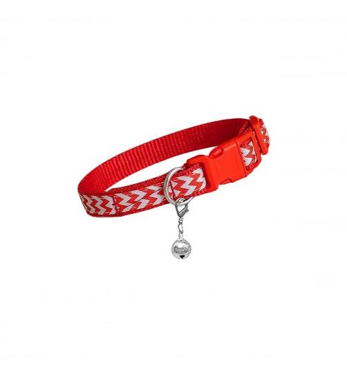 قلاده گردنی تسمهای سگ - طرح زیگزاگ سایز 2 بدون لید