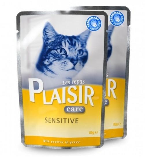 پوچ مخصوص گربه دارای حساسیت گوارشی/ PLAISIR SENSITIVE