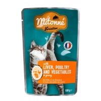 پوچ گربه mitonne- جگر و ماکیان  با سبزیجات