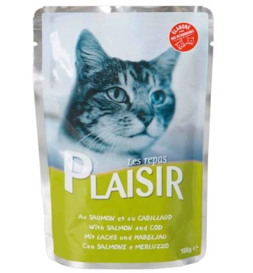 پوچ مخصوص گربه - ماهی سالمون و کاد در سس گوشت/ Salmon & Cod in Gravy