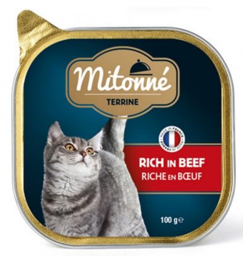 کنسرو کاسه ای گربه mitonné با گوشت گاو