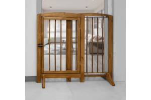 مانع عبور سگ - چوبی  و قابل تنظیم-  ارتفاع 90