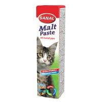 خمیر مالت گربه Sanal + ویتامین E/ دفع کننده  هربال