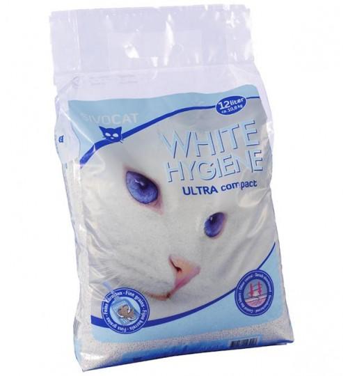 خاک گربه سیووکت / 6 کیلویی/ WHITE HYGIENE ULTRA COMPACT