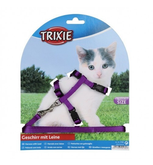 قلاده بدنی بچه گربه با بند