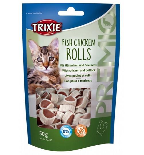 اسنک تشویقی گربه - رول های مرغ و ماهی