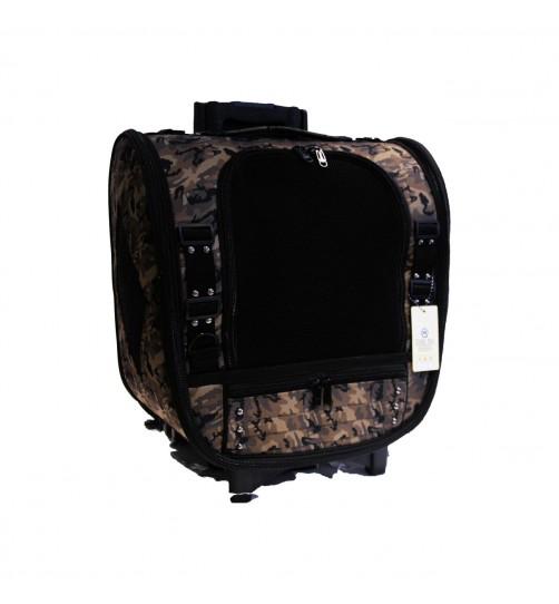 کیف حمل چرخ دار (ترالی)  سگ و گربه - طرح ارتشی 3