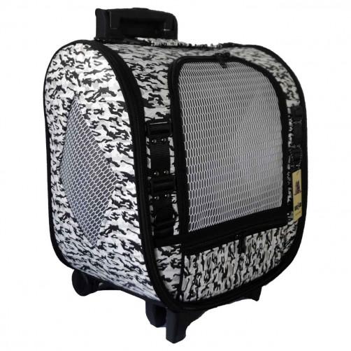 کیف حمل چرخ دار (ترالی)  سگ و گربه - طرح Camouflage