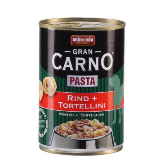 كنسرو گوشت گوساله و پاستا مخصوص سگ های بالغ/ 400 گرم/  Animonda GranCarno Pasta Beef + tortellini