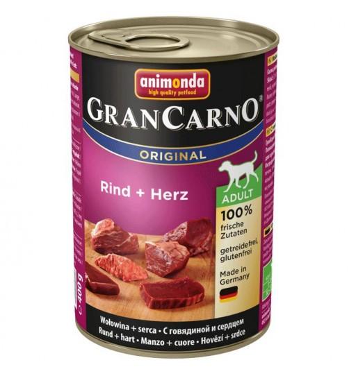 کنسرو گوشت و دل گوساله مخصوص سگهای بالغ/ 400 گرمی/ Animonda GranCarno With Beef + Heart