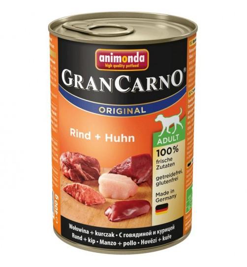كنسرو گوساله و مرغ مخصوص سگهای بالغ/ 400 گرمی/ Animonda GranCarno Rind + Huhn