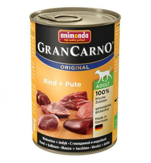 كنسرو بیف و بوقلمون مخصوص سگهای بالغ / 400 گرمی/  Animonda GranCarno Beef + turkey