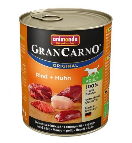 كنسرو گوساله و مرغ مخصوص سگهای بالغ/ 800 گرمی/ Animonda GranCarno Rind + Huhn