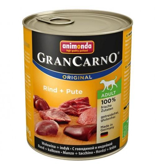 كنسرو بیف و بوقلمون مخصوص سگهای بالغ / 800 گرمی/  Animonda GranCarno Beef + turkey
