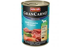 کنسرو ماهی سالمون و اسفناج مخصوص سگ بالغ/ 400 گرم/ Animonda GranCarno salmon + spinach