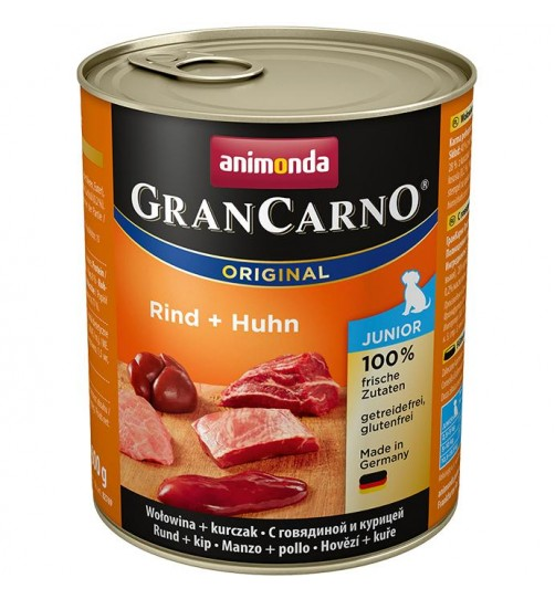 كنسرو بیف و مرغ مخصوص توله سگ/ 800 گرمی/ Animonda GranCarno Junior beef + chicken