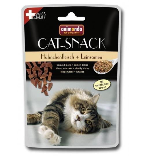 تشویقی گربه انیموندا حاوی گوشت مرغ و بذر کتان