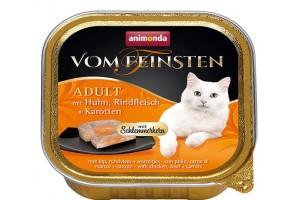 کنسرو  مرغ و گاو با هویج  Vom Feinsten مخصوص گربه بالغ