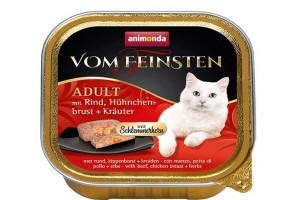 کنسرو گوشت گاو و سینه مرغ با سبزیجات  Vom Feinsten مخصوص گربه بالغ