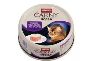 کنسرو ماهی تن و سرخو CARNY OCEAN مخصوص گربه بالغ/ 80 گرمی