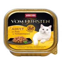 کنسرو بدون غلات گوشت بوقلمون در سس گوجه مخصوص گربه با دستگاه گوارش حساس/ 100 گرمی
