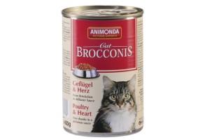 کنسروگوشت ماکیان + دل BROCCONIS مخصوص گربه بالغ/ 400 گرمی