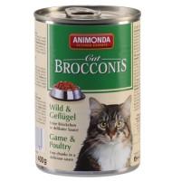 کنسروگوشت شکار + ماکیان BROCCINIS مخصوص گربه بالغ/ 400 گرمی
