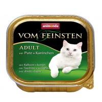 کنسرو  گوشت بوقلمون و خرگوش  Vom Feinsten مخصوص گربه بالغ / 100 گرمی