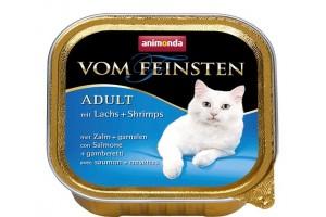 کنسرو  ماهی سالمون و میگو  Vom Feinsten مخصوص گربه بالغ