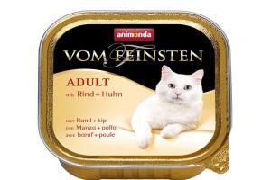 کنسرو گوشت گاو و مرغ Vom Feinsten مخصوص گربه بالغ / 100 گرمی