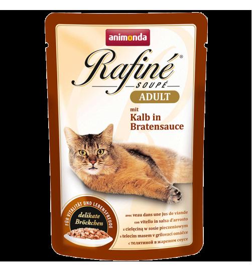 پوچ گربه Rafiné حاوی گوشت گوساله در سس تنوری/ 100 گرمی