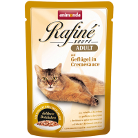پوچ گربه Rafiné حاوی گوشت ماکیان در سس خامه ای/ 100 گرمی