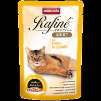 پوچ گربه Rafiné حاوی گوشت مرغ در سس تخم مرغ/ 100 گرمی