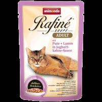 پوچ گربه Rafiné حاوی گوشت بوقلمون و بره در سس ماست و خامه/ 100 گرمی