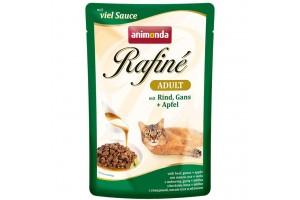 پوچ گربه Rafiné حاوی گوشت گاو و غاز با سیب