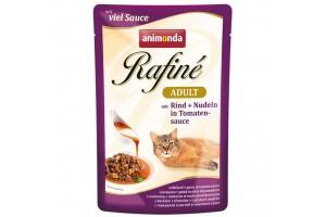 پوچ گربه Rafiné حاوی گوشت گاو و پاستا در سس گوجه فرنگی