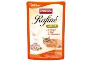 پوچ گربه Rafiné حاوی گوشت ماکیان و گاو در سس پنیر