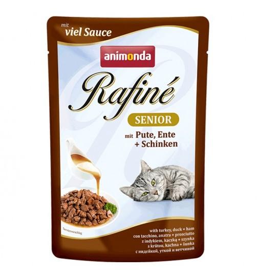 پوچ گربه Rafiné حاوی گوشت بوقلمون، اردک و ژامبون مخصوص گربه مسن