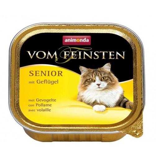 کنسرو گوشت مرغ Vom Feinsten مخصوص گربه بالای 7 سال/ 100 گرمی