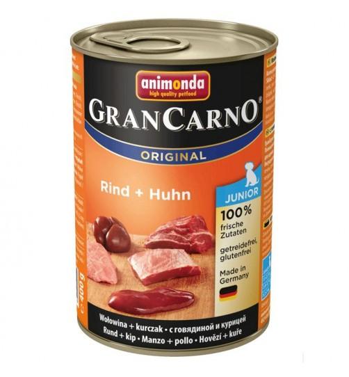 كنسرو بیف و مرغ مخصوص توله سگ/ 400 گرمی/ Animonda GranCarno Junior beef + chicken