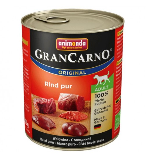 كنسرو گوشت گوساله مخصوص سگهای بالغ/ 800 گرمی/ Animonda GranCarno Beef pur