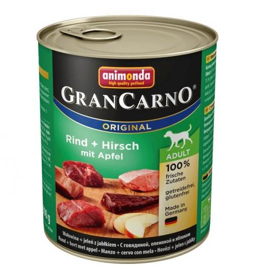 کنسرو گوشت گاو و گوزن با سیب مخصوص سگ بالغ/ 800 گرمی/ Animonda GranCarno  Beef + Deer with Apple