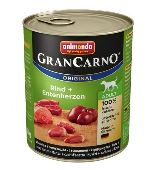 كنسرو گوساله، بوقلمون و دل اردک مخصوص سگهای بالغ/ 800 گرمی/ Animonda GranCarno Beef + heart ducks