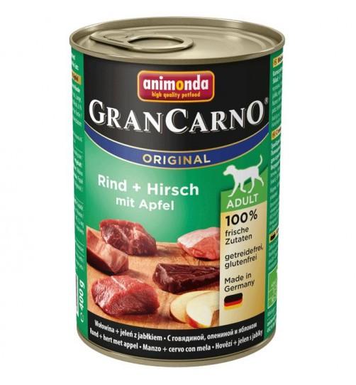 کنسرو گوشت گاو و گوزن با سیب مخصوص سگ بالغ/ 400 گرمی/ Animonda GranCarno  Beef + Deer with Apple