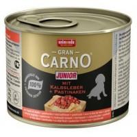 کنسرو جگر گوساله و هویج مخصوص توله سگ/ 200 گرمی/ Animonda Gran Carno Junior mit Kalbsleber plus Pastinaken