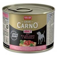 کنسرو جگر گوساله و چغندر مخصوص سگ بالغ/ 200 گرمی/ Animonda GranCarno with veal liver plus Mangold
